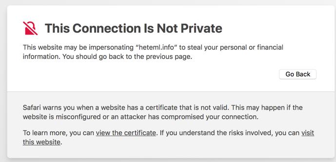 Beware of domain scams